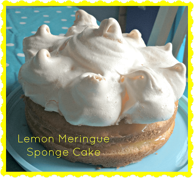 Lemon Meringue Sponge Cake Recipe Stressy Mummy