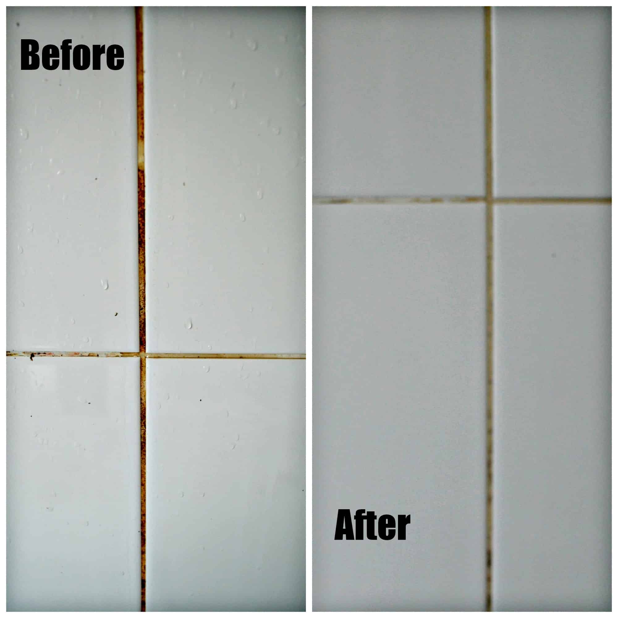 How to steam clean bathroom - Grout Before And After