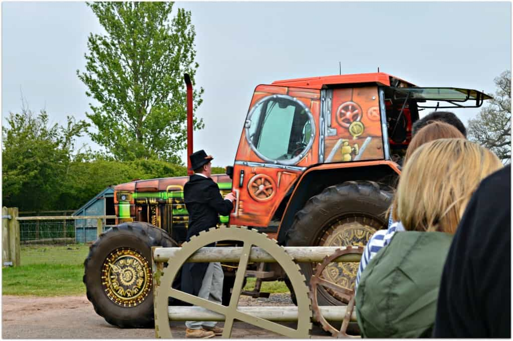The Timewarp Tractor Ride at Hatton Adventure World