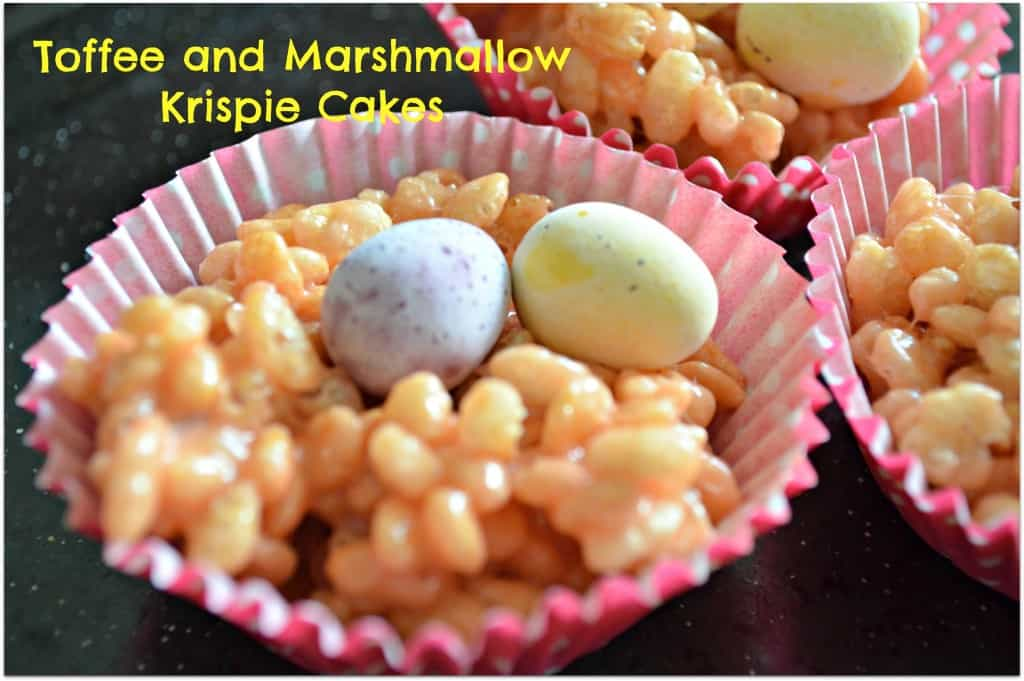 Toffee and Marshmallow Krispie Cakes