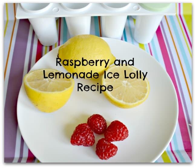 Raspberry and Lemonade Ice Lolly Recipe
