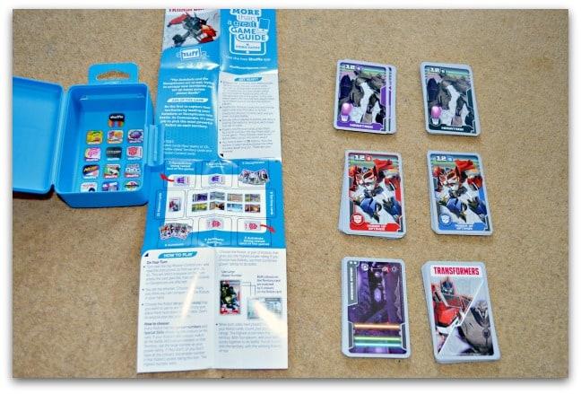 transformers shuffle cards