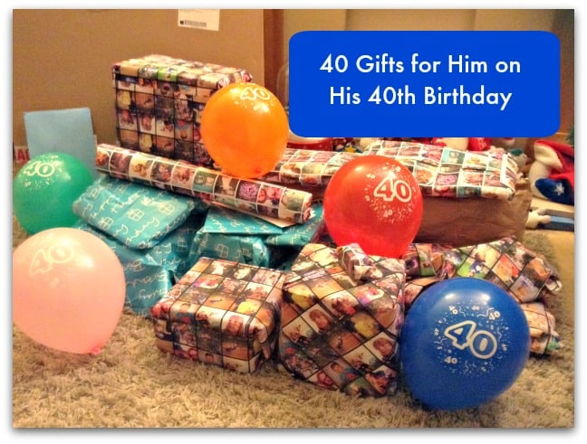 40 presents for 40th birthday man