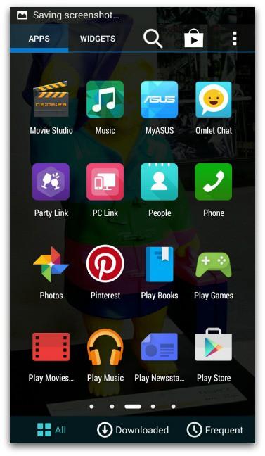 ASUS Zenfone 5 LTE  Apps Screenshot