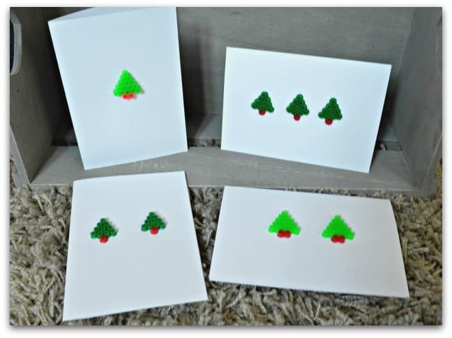Hama Bead Christmas Cards