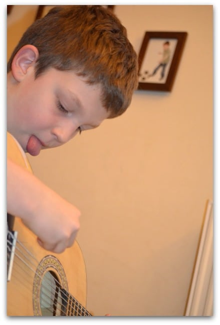learning the guitar