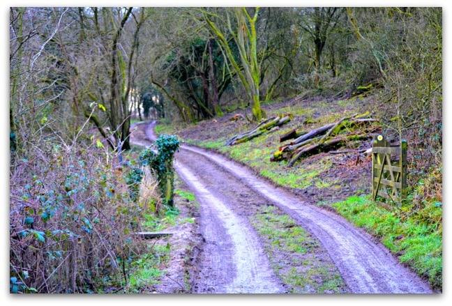 walking up Bredon Hill