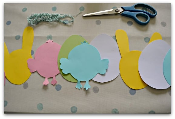 Making easy Easter bunting