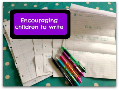 encouraging children to write