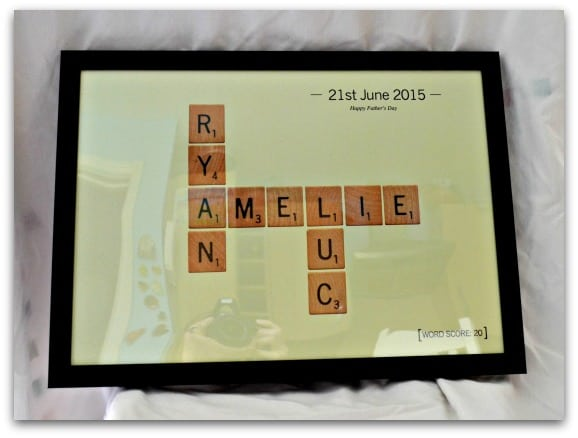 Personalised Letter Tiles Print from Getting Personal