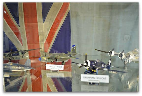 Displays in the WWII RAF Museum Croome