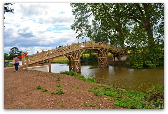 The newly reinstated Chinese Bridge at Croome