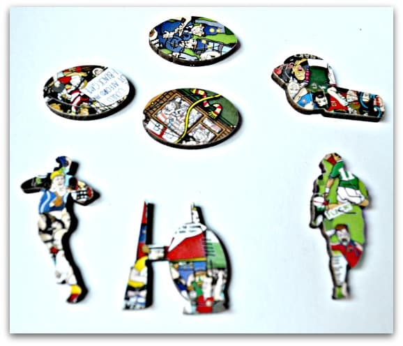 Wentworth Wooden Puzzles Rugby Mishmash Whimsy Pieces