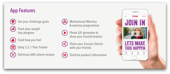SlimFast App Features