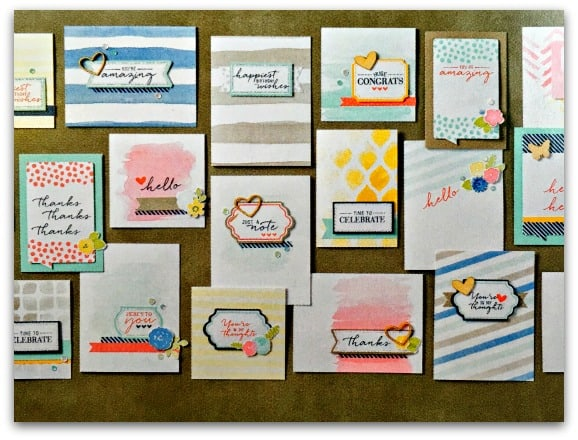 Cards that you can make from Watercolor Wished Card Making Kit