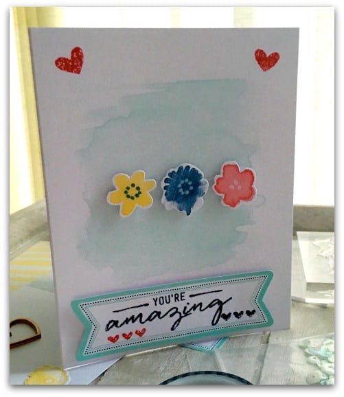 Homemade card using Stamping' Up Card Making Kit