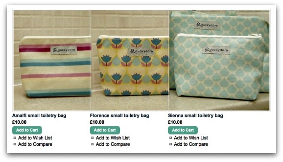 Mother's Day Gift Guide Duckydora Toiletry Bags
