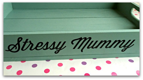 Personalised Wooden Tray in Shabby Blue from Getting Personal