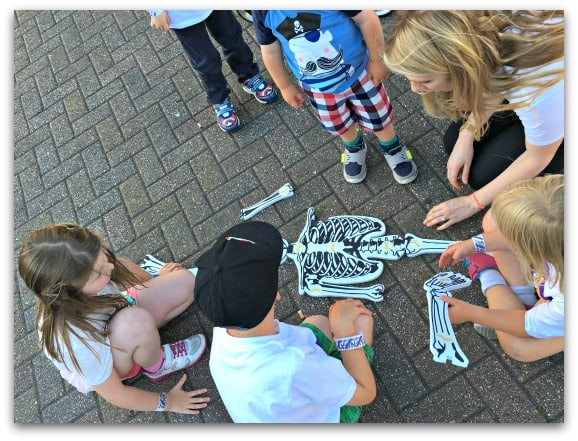 Building skeletons at the Frubes Sleepover