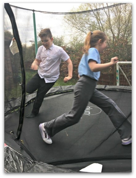 Collecting moments March trampolining