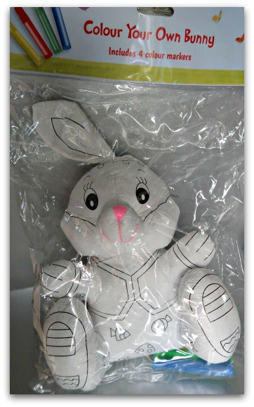 Colour Your Own Bunny from Home Bargains