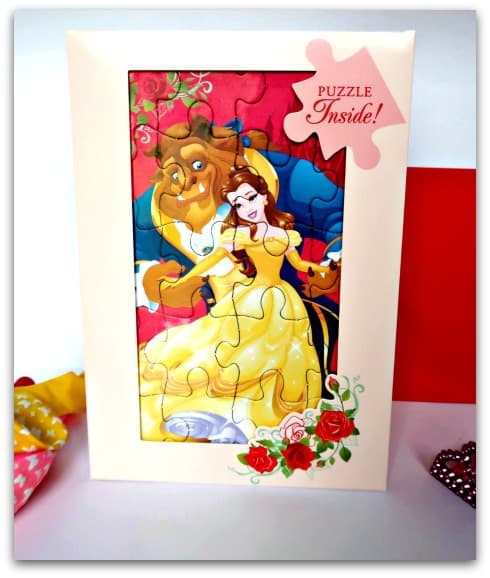 Hallmark Disney Beauty and the Beast Puzzle Card