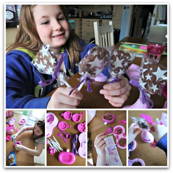Making lollipops with Chocolate Lolly Maker