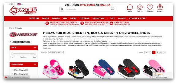 Skates.co.uk Heelys