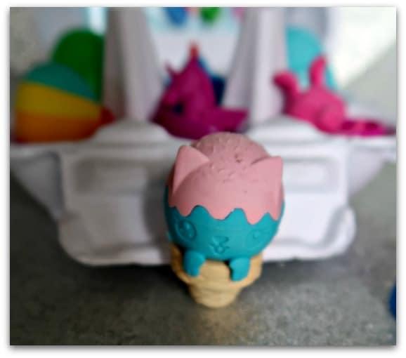 Smiggle Scented Eraser Egg Carton Eraser close up