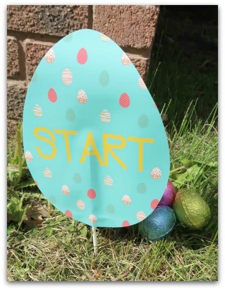Tesco Easter Hunt Signs