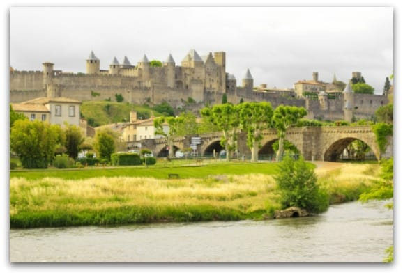 View of the Old Town in Carcassonne