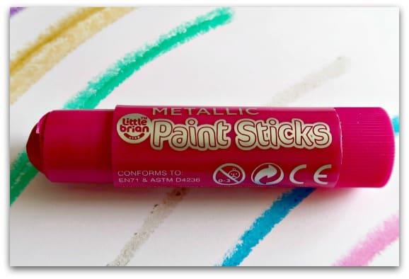 Little Brian Metallic Paint Stick Close up