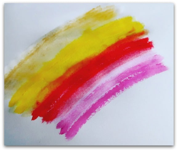 Paint Sticks blended with water