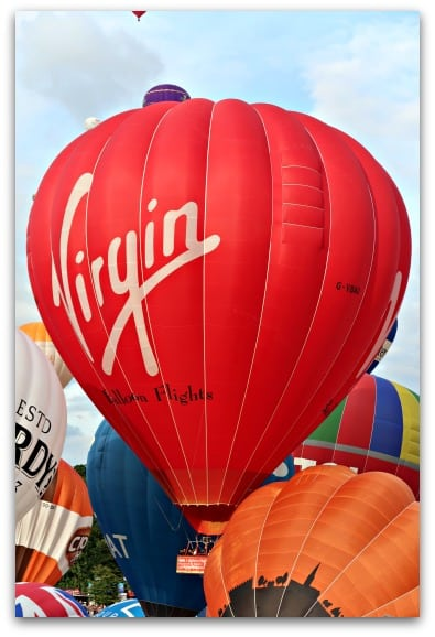 One of the balloons at the Bristol International Balloon Fiesta 2017