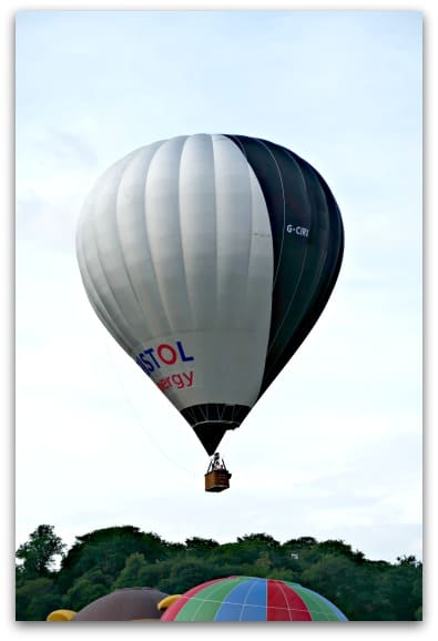 Bristol International Balloon Fiesta 2017 The first balloon to take off on the Sunday evening ascent