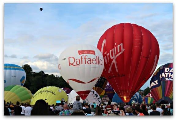 Bristol International Balloon Fiesta 2017 Sunday Balloons starting to take off