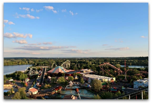 From the top of the VIP Coaster Climb at Thorp Park, you get a fantastic view of the entire theme park