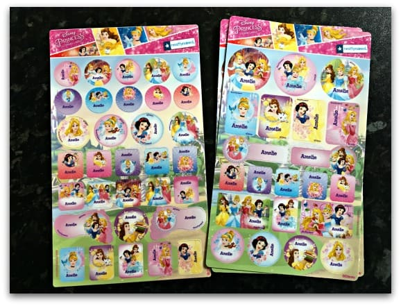 Neatly Named Disney Princess Name Labels and Clothing Stickers for quick and easy back to school labelling