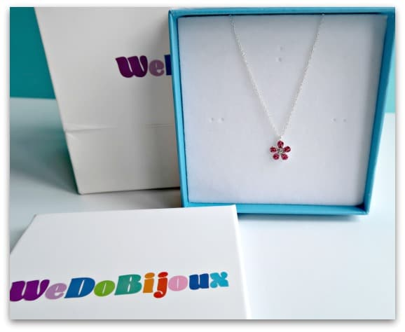 Beautiful flower crystal sterling silver necklace from We Do Bijoux