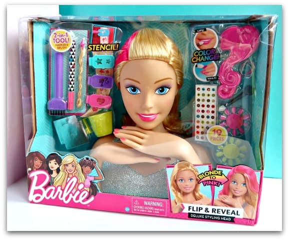 Barbie Flip and Reveal Deluxe Styling Head Boxed