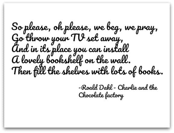 Charlie and the Chocolate Factory Quote about Books