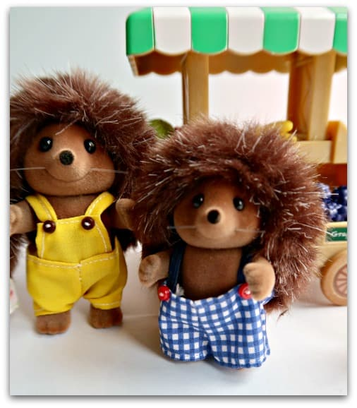 Introducing Father Mortimer Bramble and Brother Maxwell Bramble from the Bramble Hedgehog Family Sylvanian Families