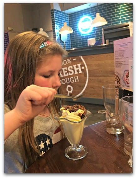 Old White Horse Stourbridge Enjoying the Bottomless Ice Cream Sundae