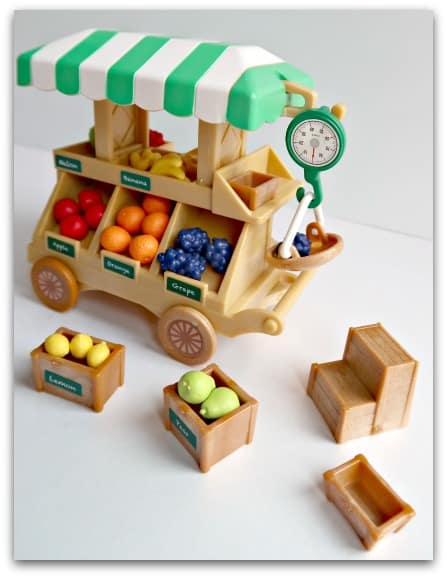 Sylvanian Families Fruit Wagon Side View