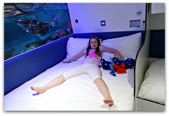 The beds at the Shark Hotel Thorpe Park are really comfortable