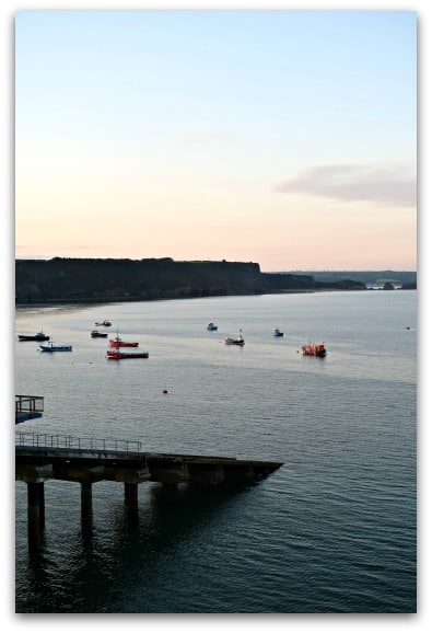 The slipway from the old RNLI Lifeboat Station in Tenby which is now a house