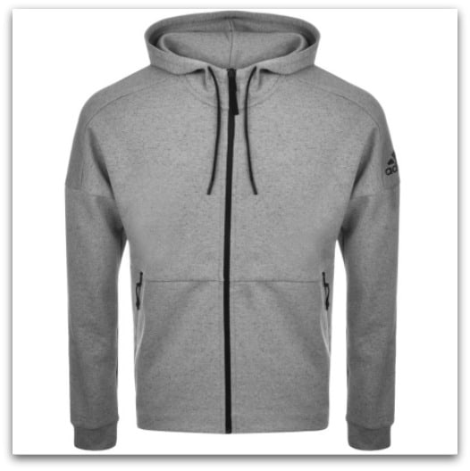 ADIDAS ORIGINALS ID STADIUM ZIP HOODIE GREY from Mainline Menswear