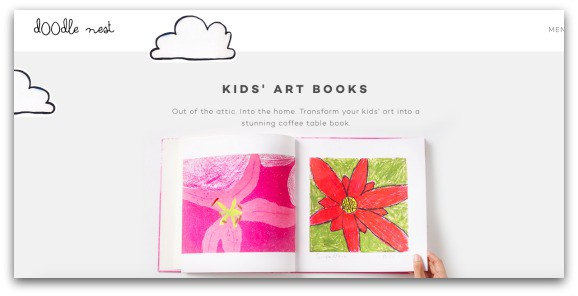 Turn your children's pictures and models into a coffee table treat with Doodle Nest Kids' Art Books