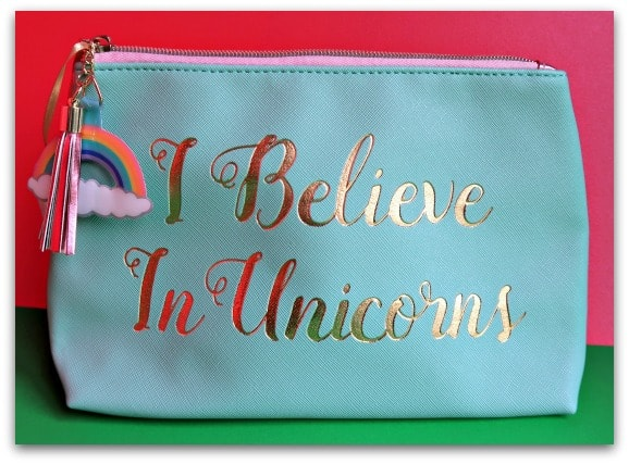 I Believe In Unicorns Make Up Bag from Find Me A Gift