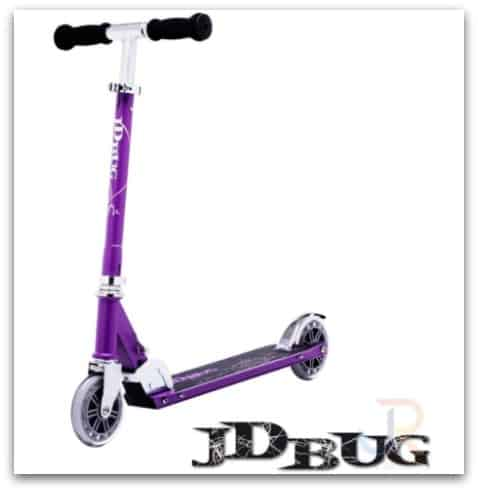 JD Bug Classic Street 120 Matt Purple Foldable Scooter from Skates.co.uk
